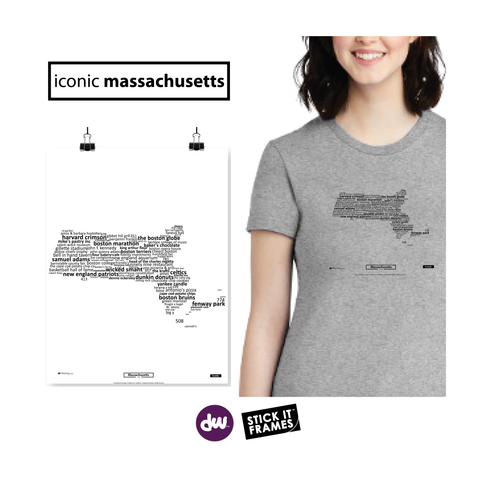 Iconic Massachusetts - All Products (Shirt, Art, Frames (R))