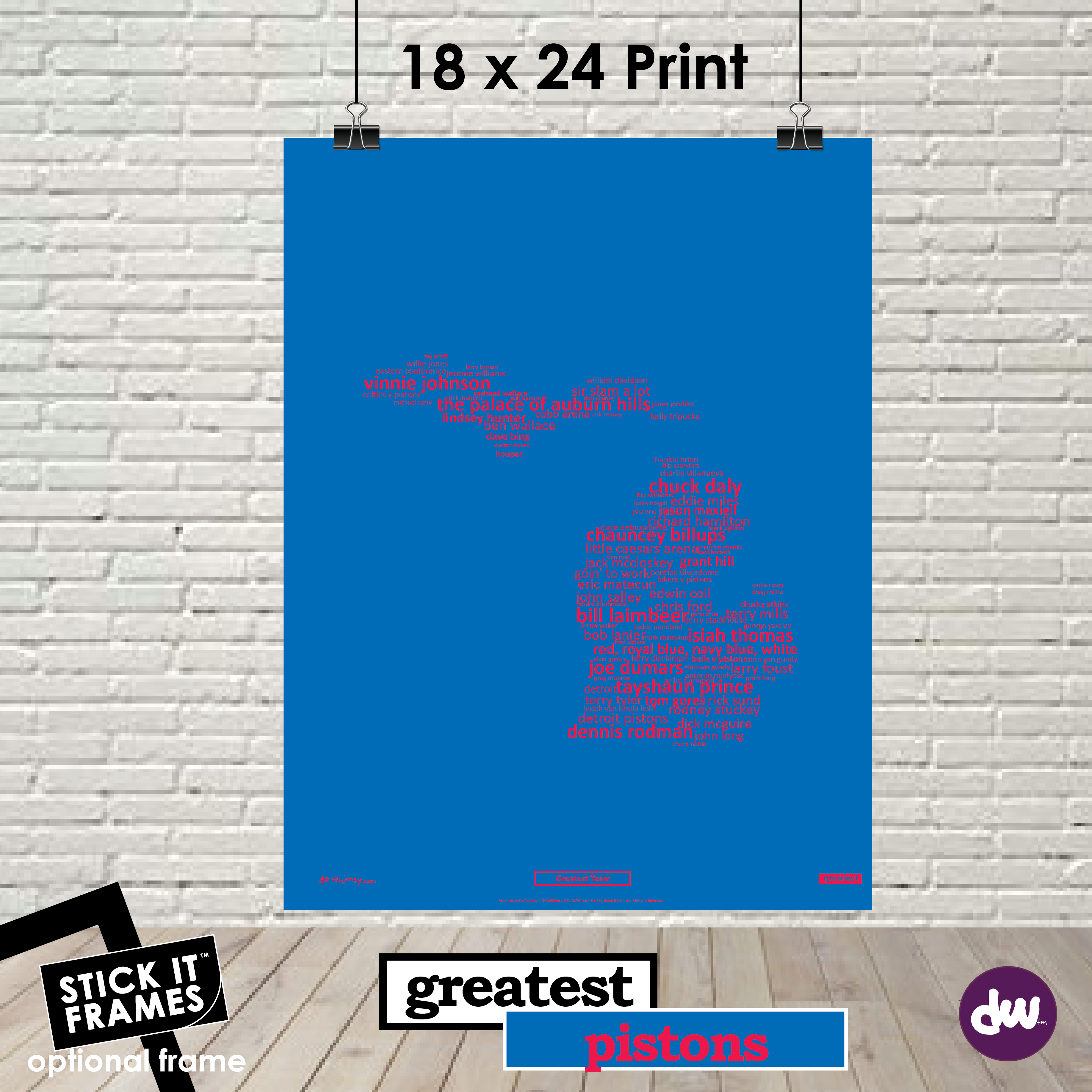 Greatest Michigan (Pistons) - All Products (Shirt, Art, Frames (R))
