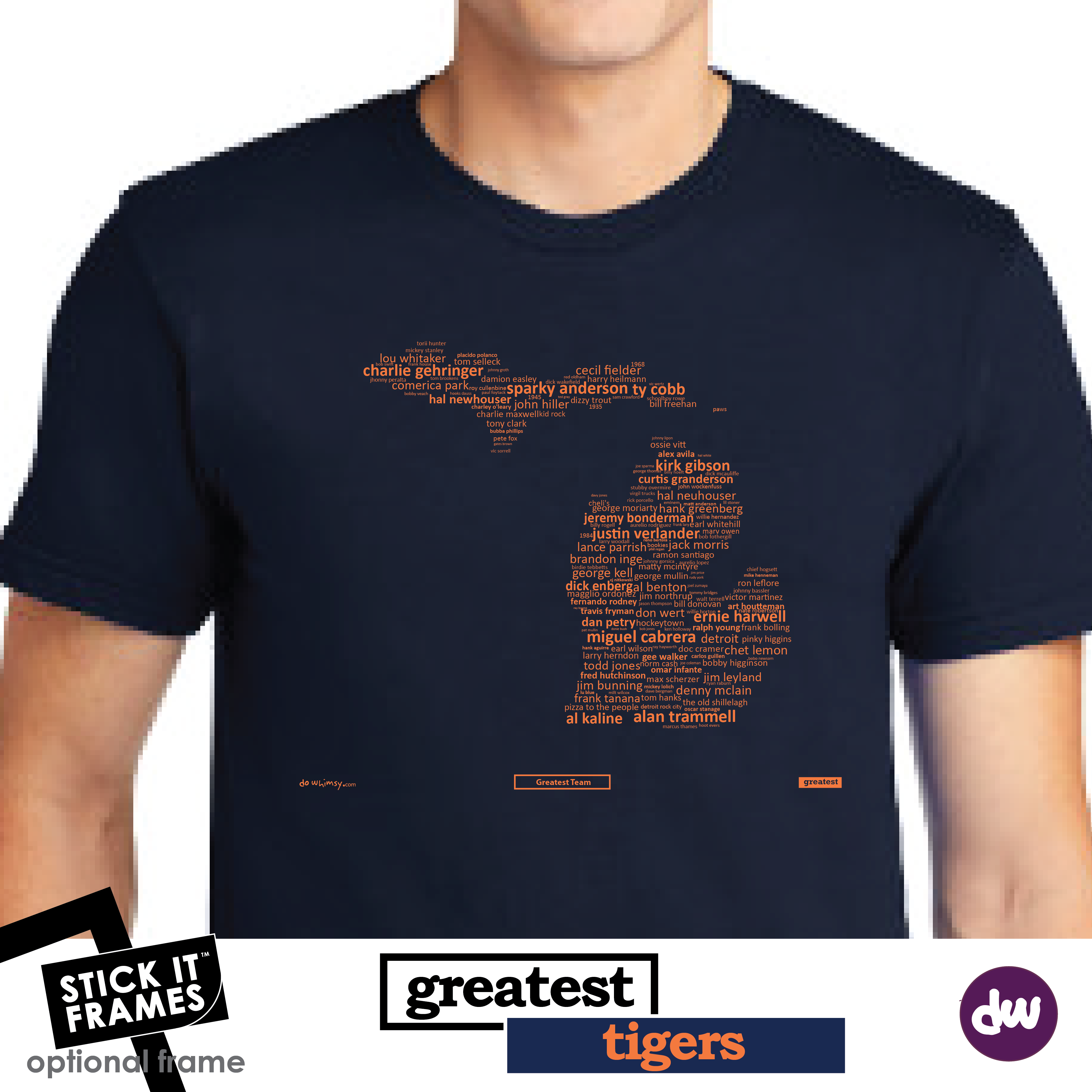 Greatest Michigan (Tigers) - All Products (Shirt, Art, Frames (R))