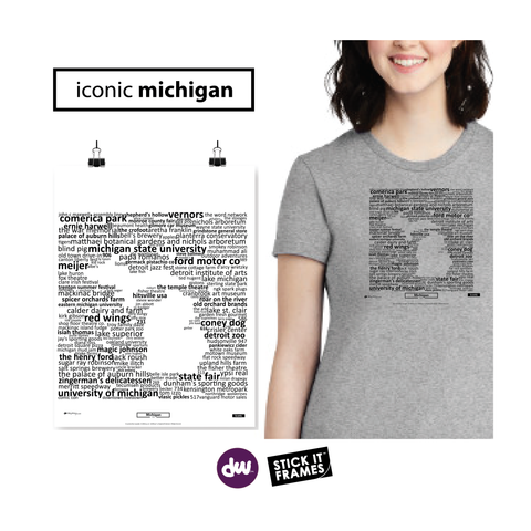 Iconic Michigan - All Products (Shirt, Art, Frames (R))