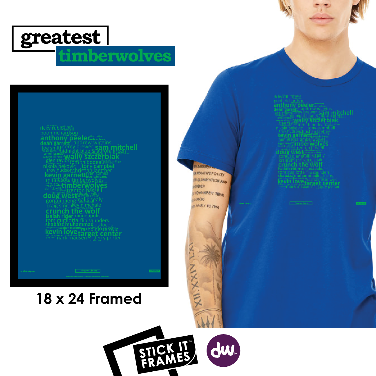 Greatest Minnesota (Timberwolves) - All Products (Shirt, Art, Frames (R))