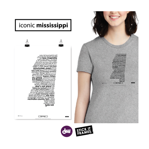 Iconic Mississippi - All Products (Shirt, Art, Frames (R))