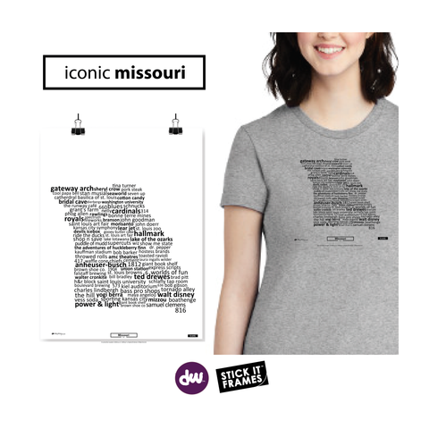 Iconic Missouri - All Products (Shirt, Art, Frames (R))