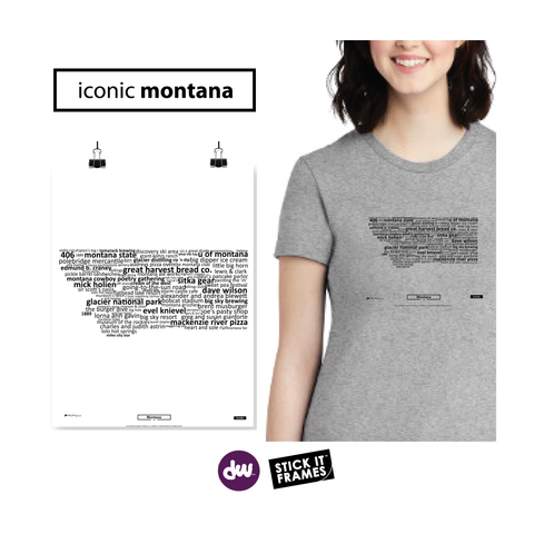 Iconic Montana - All Products (Shirt, Art, Frames (R))
