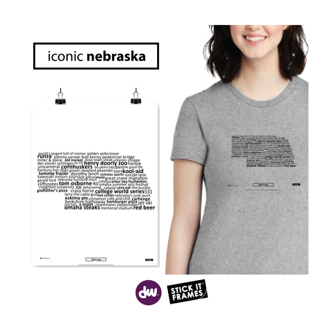 Iconic Nebraska - All Products (Shirt, Art, Frames (R))