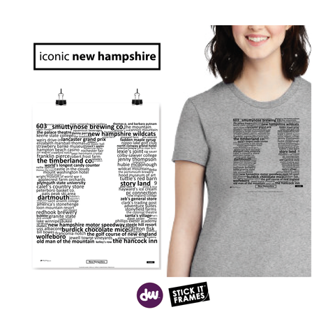 Iconic New Hampshire - All Products (Shirt, Art, Frames (R))