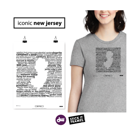 Iconic New Jersey - All Products (Shirt, Art, Frames (R))