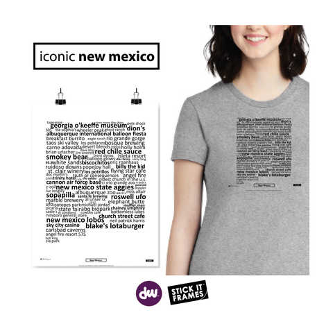 Iconic New Mexico - All Products (Shirt, Art, Frames (R))