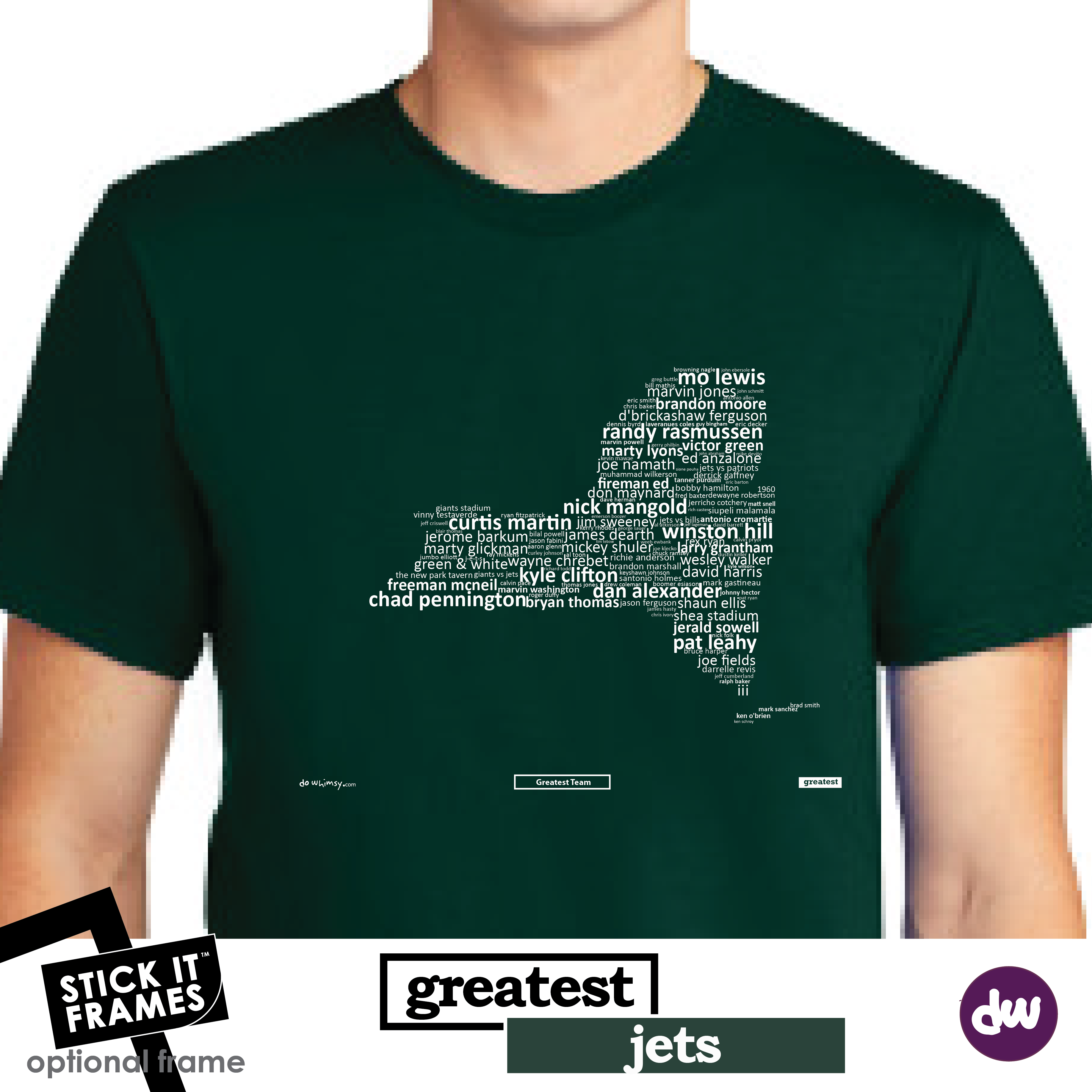 Greatest New York (Jets) - All Products (Shirt, Art, Frames (R))