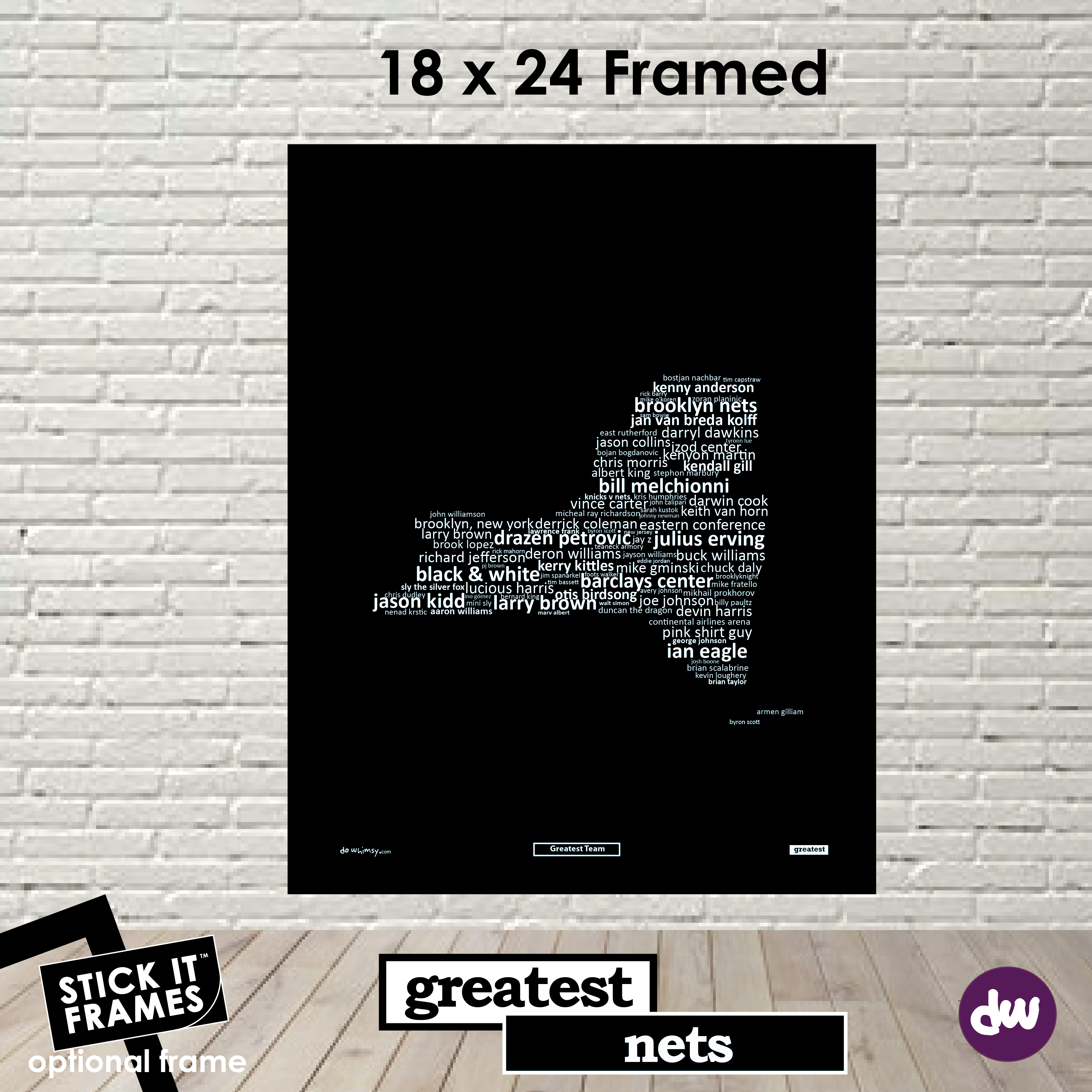 Greatest New York (Nets) - All Products (Shirt, Art, Frames (R))