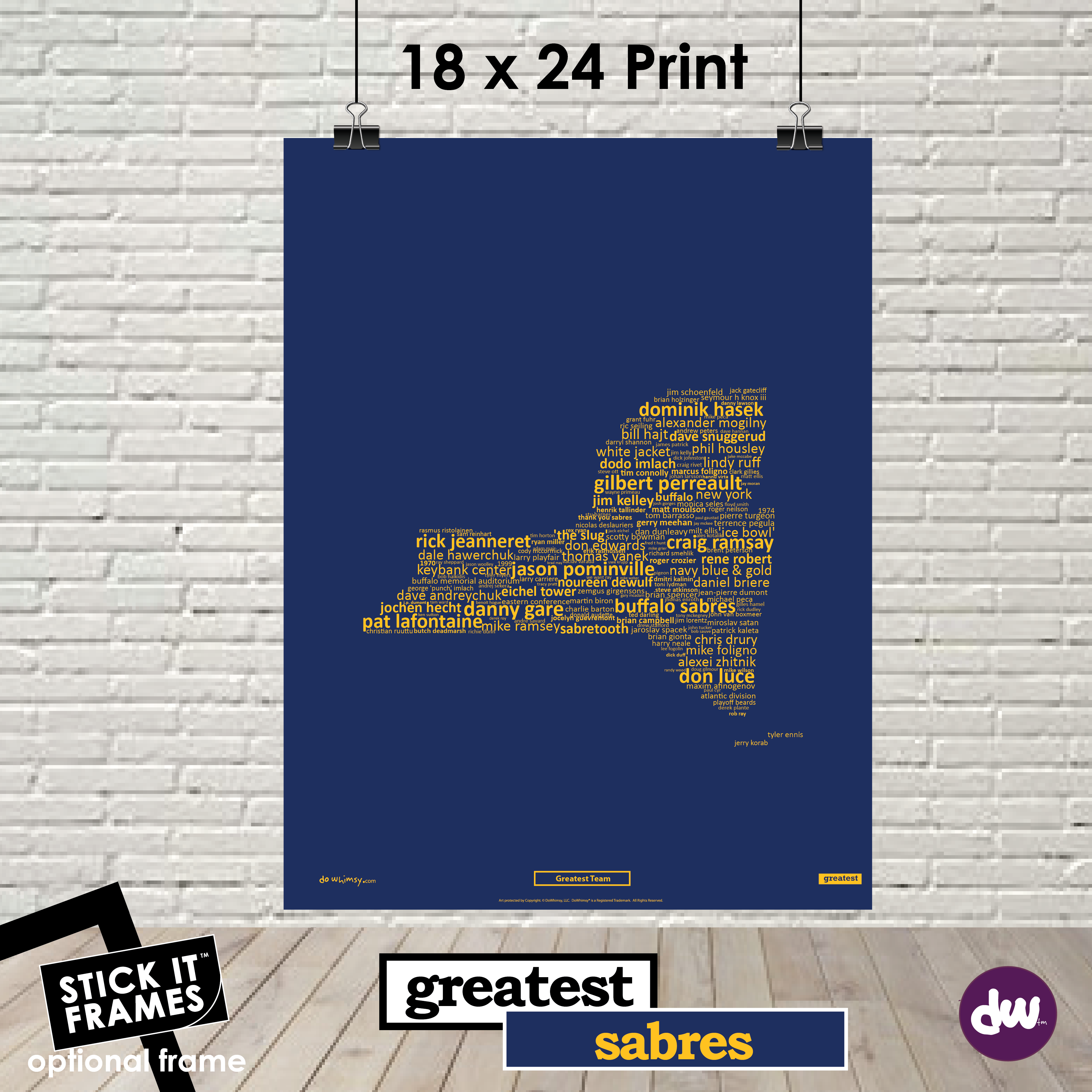 Greatest New York (Sabres) - All Products (Shirt, Art, Frames (R))