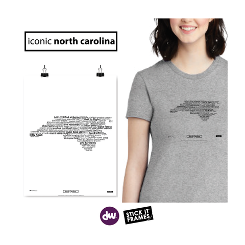 Iconic North Carolina - All Products (Shirt, Art, Frames (R))
