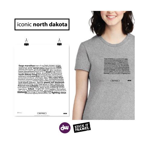 Iconic North Dakota - All Products (Shirt, Art, Frames (R))