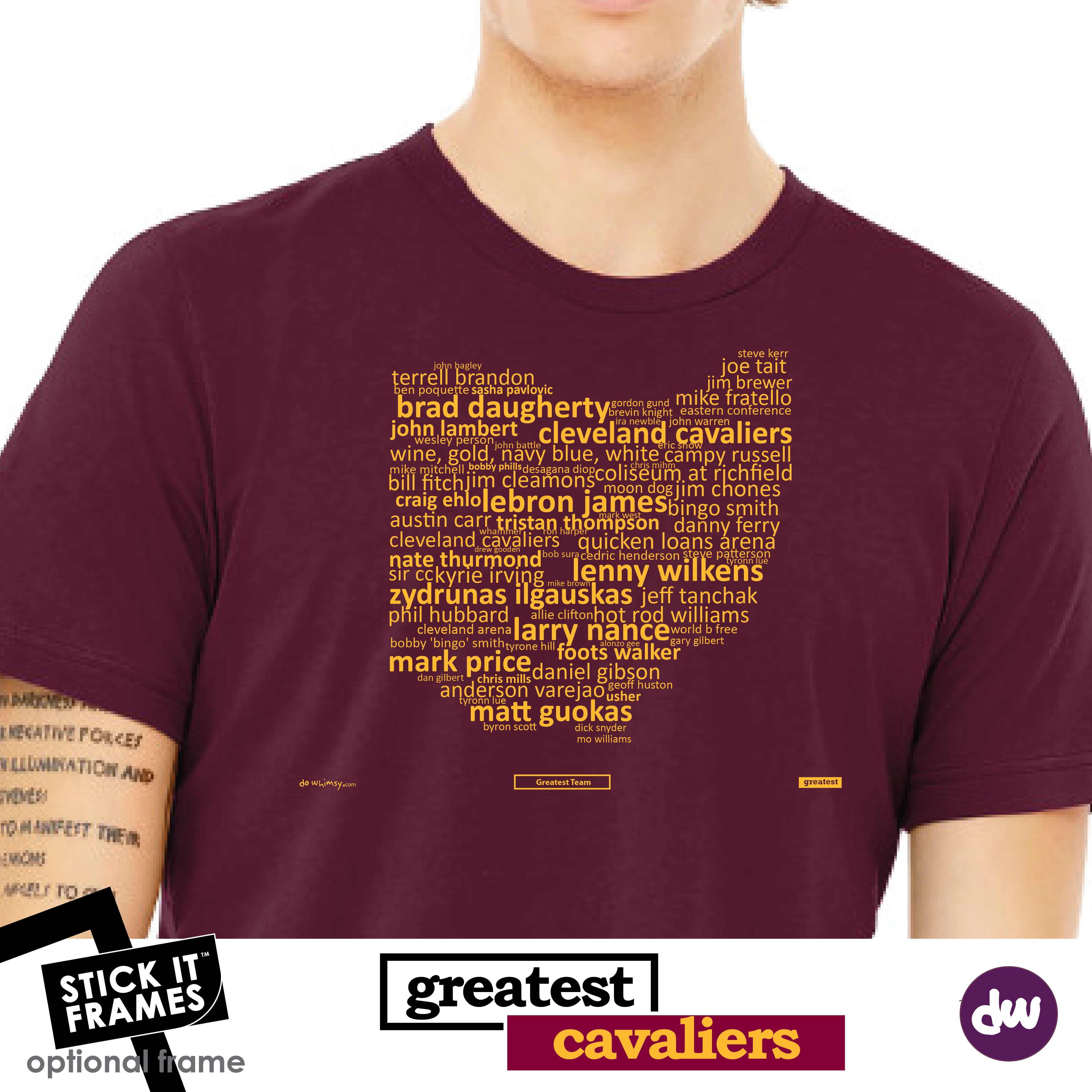 Greatest Ohio (Cavaliers) - All Products (Shirt, Art, Frames (R))