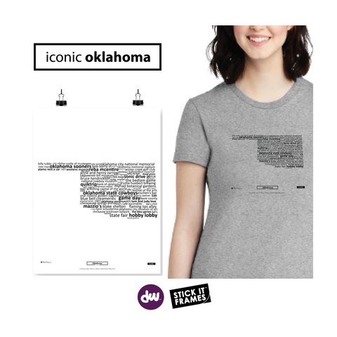 Iconic Oklahoma - All Products (Shirt, Art, Frames (R))