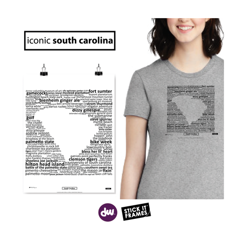 Iconic South Carolina - All Products (Shirt, Art, Frames (R))