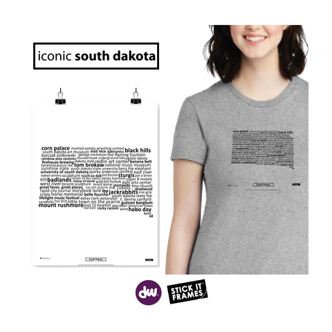 Iconic South Dakota - All Products (Shirt, Art, Frames (R))