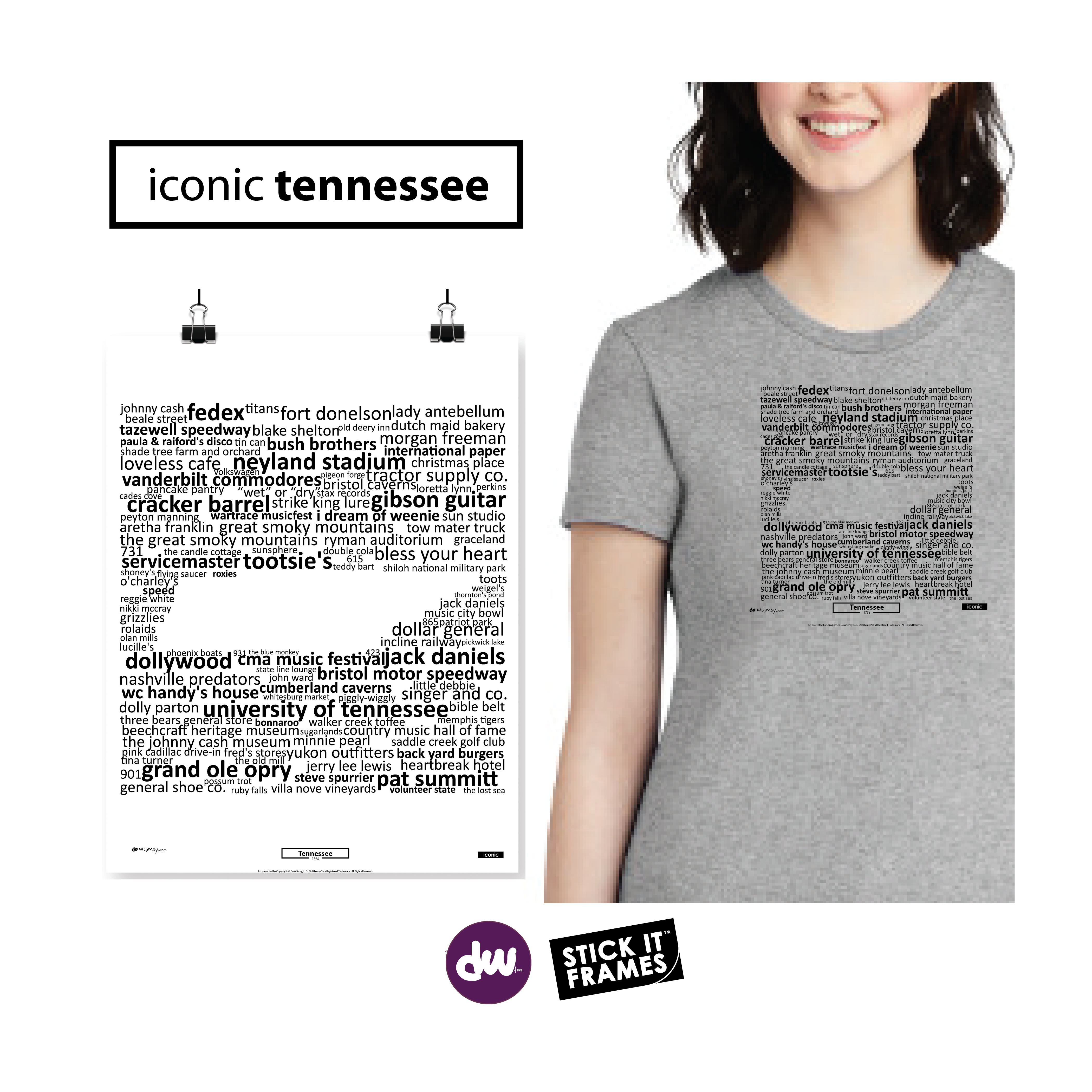 Iconic Tennessee - All Products (Shirt, Art, Frames (R))