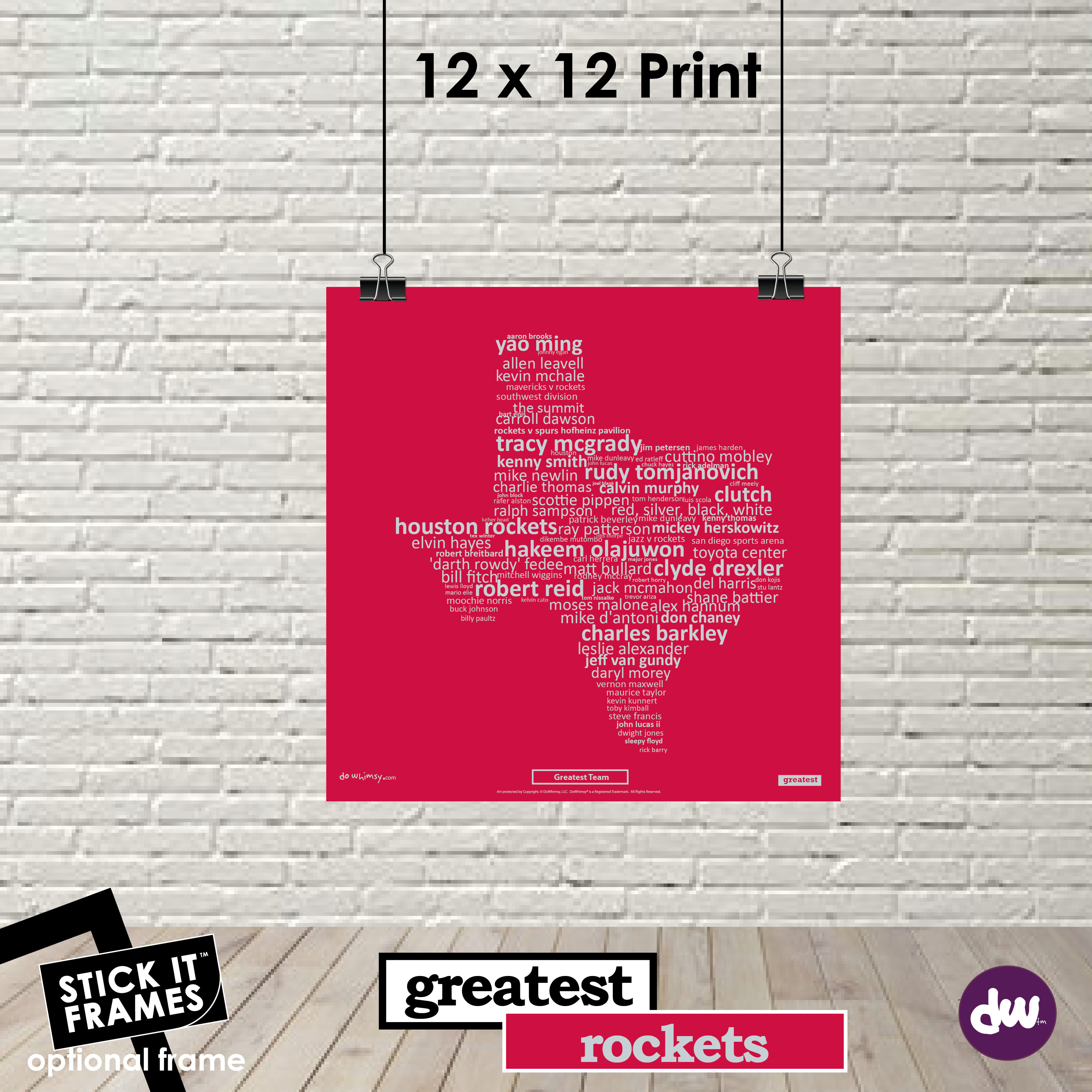 Greatest Texas (Rockets) - All Products (Shirt, Art, Frames (R))