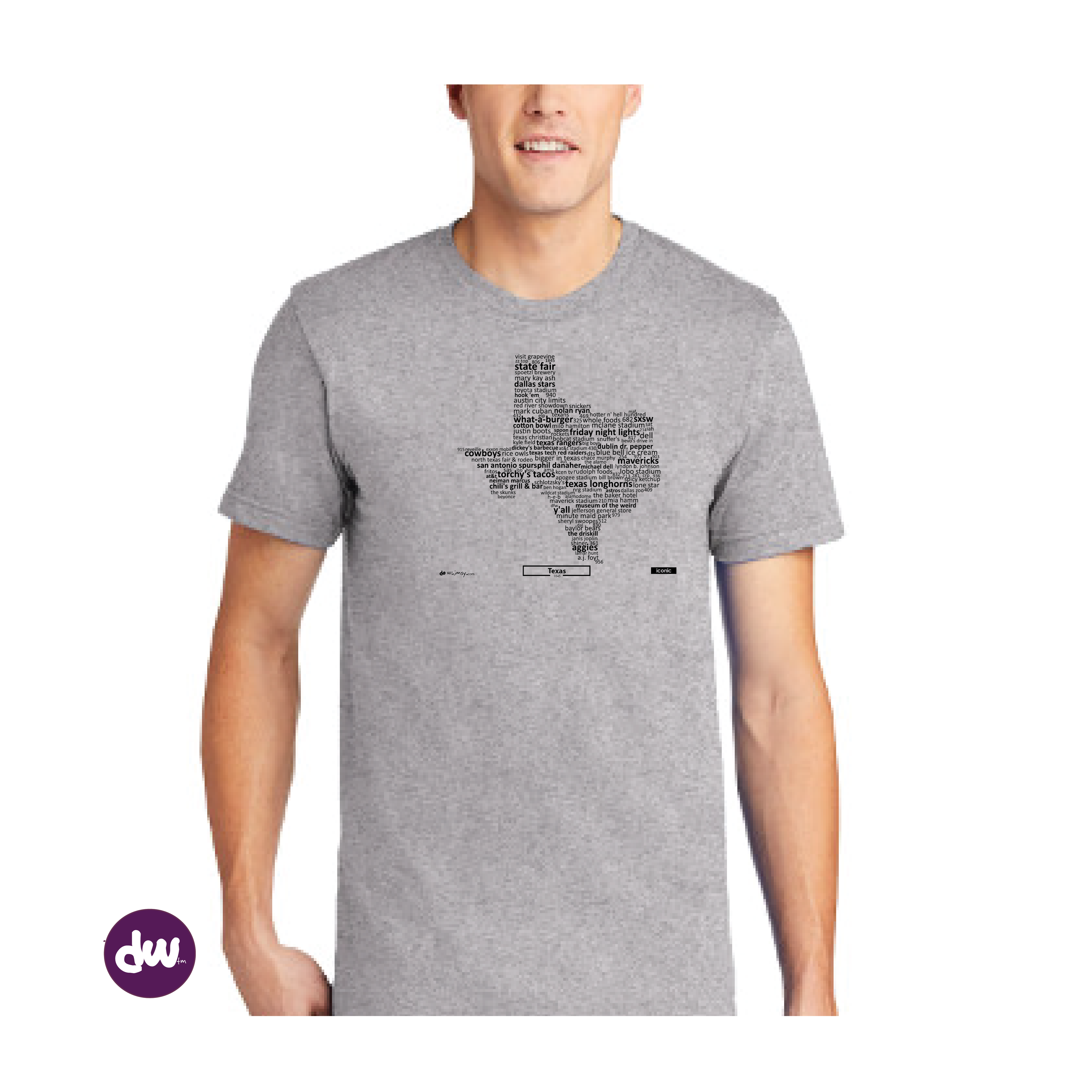 Iconic Texas - All Products (Shirt, Art, Frames (R))