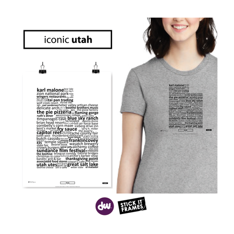 Iconic Utah - All Products (Shirt, Art, Frames (R))