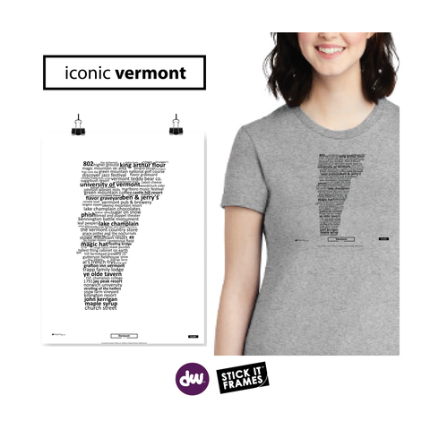 Iconic Vermont - All Products (Shirt, Art, Frames (R))