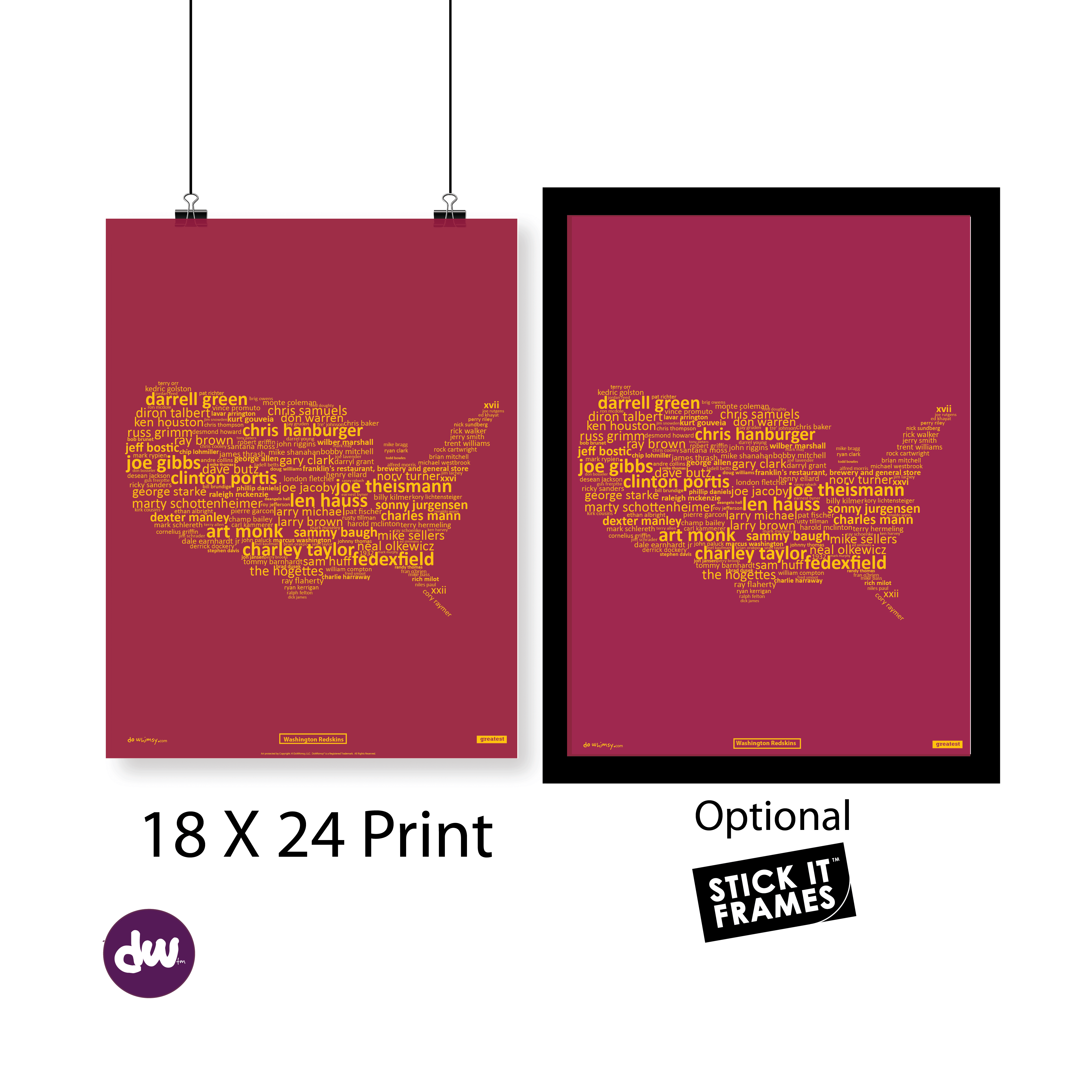 Greatest District of Columbia (Redskins) - All Products (Shirt, Art, Frames (R))