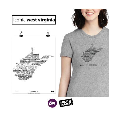 Iconic West Virginia - All Products (Shirt, Art, Frames (R))