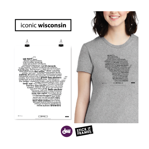 Iconic Wisconsin - All Products (Shirt, Art, Frames (R))