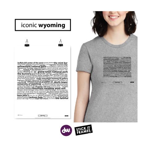 Iconic Wyoming - All Products (Shirt, Art, Frames (R))