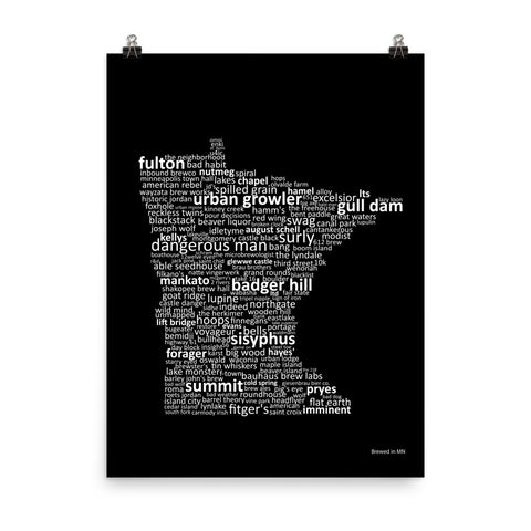 Brewed in WI - Prints & Framed Prints