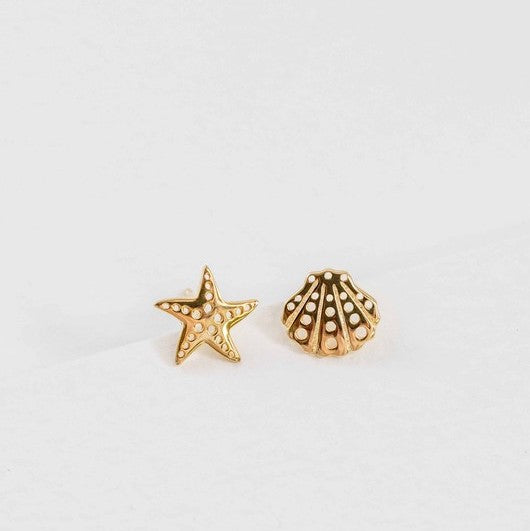 sea and star earrings