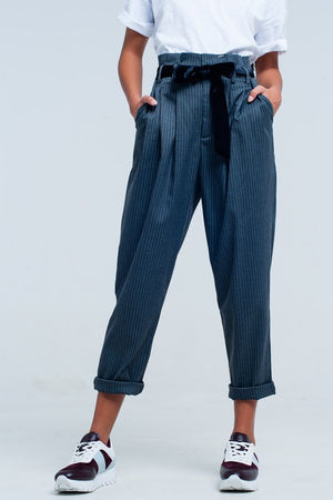 charcoal paper bag pants - Shop trendy womenswear styles on www.downerss.com