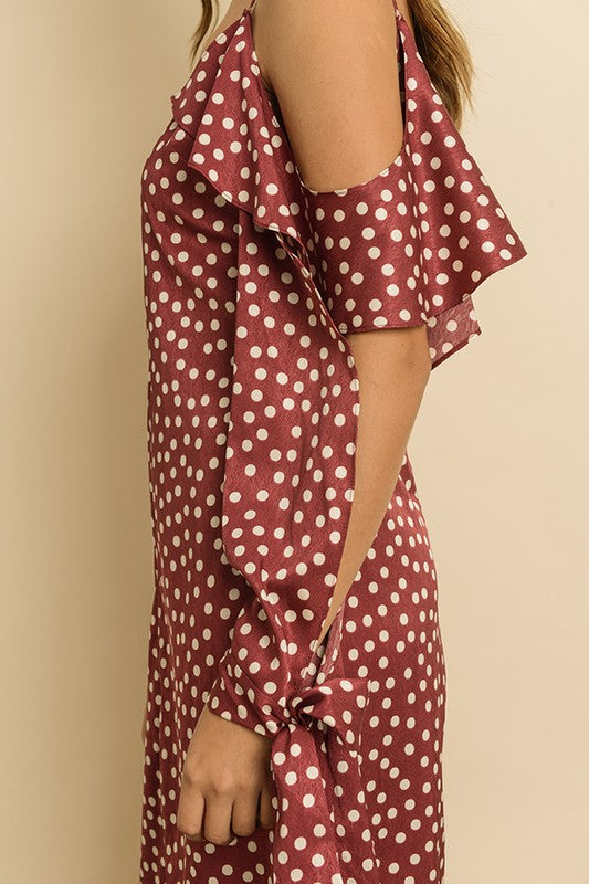 Ruby Polka Dot Ruffle Dress