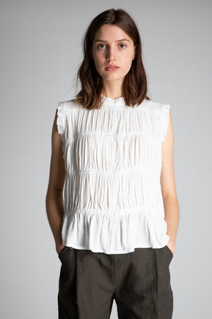 White High-Neck Blouse