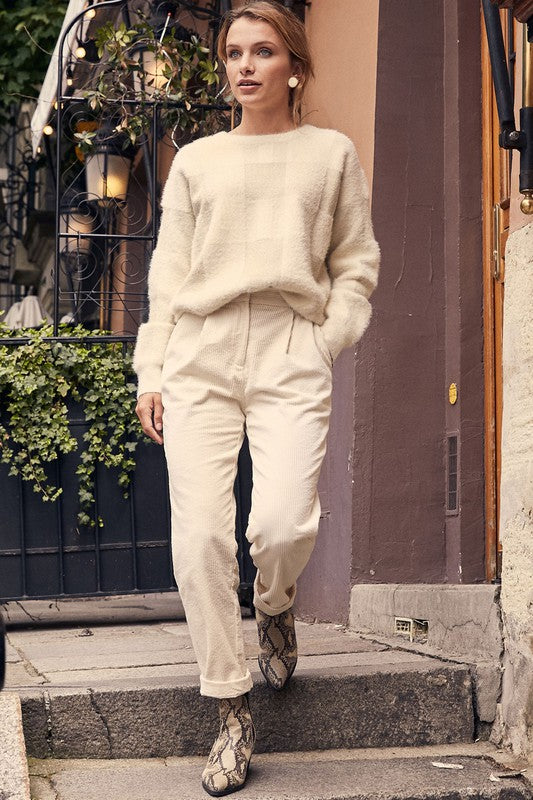 Cream Corduroy Pants