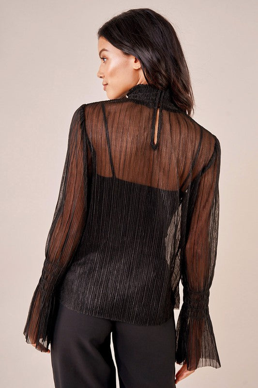 Sheer Lux Smock Top