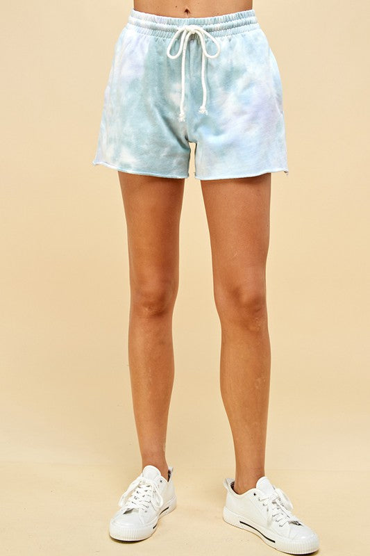 Light Cotton Tie Dye Sweat Shorts