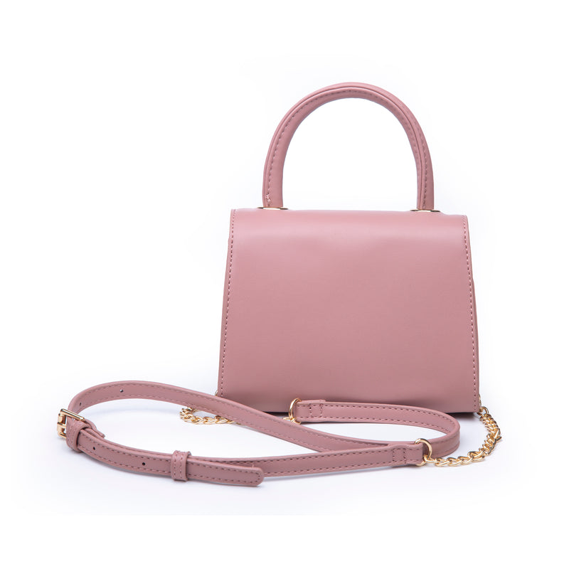 Mini Mauve Top Handle Bag - Vegan Leather