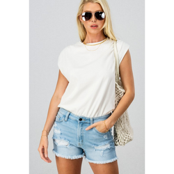 White Muscle Tee Bodysuit