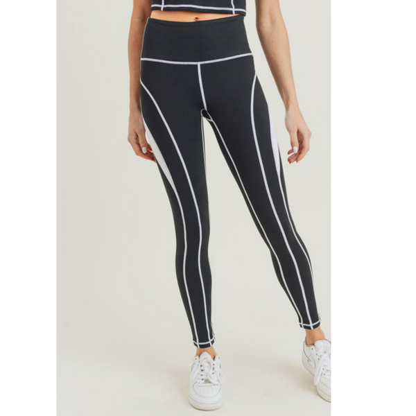 Color Block High Waist Leggings