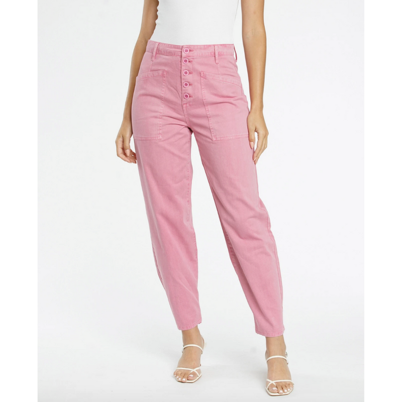 Tammy High Rise Trouser - Flamingo