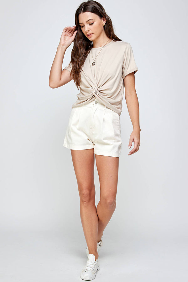 Sand Knot Front Tee