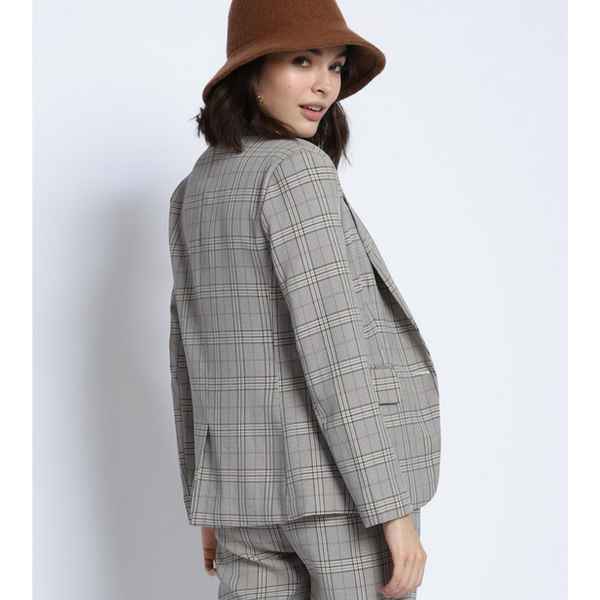 Brown Plaid Blazer