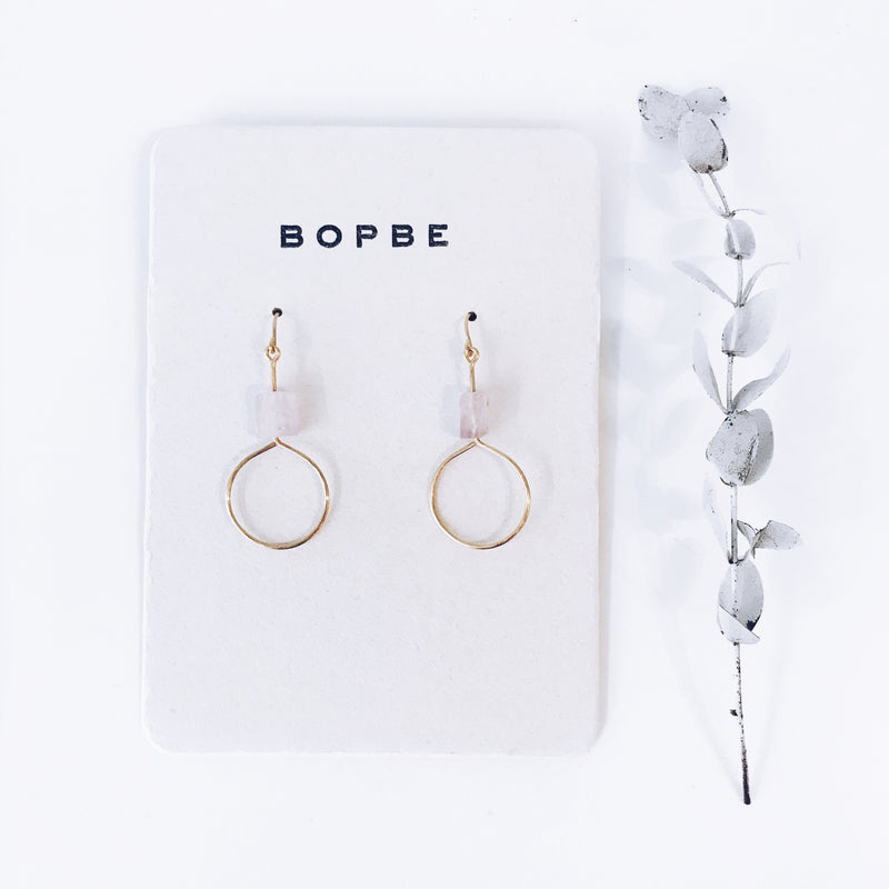 kunzite earring // bopbe - Shop trendy womenswear styles on www.downerss.com