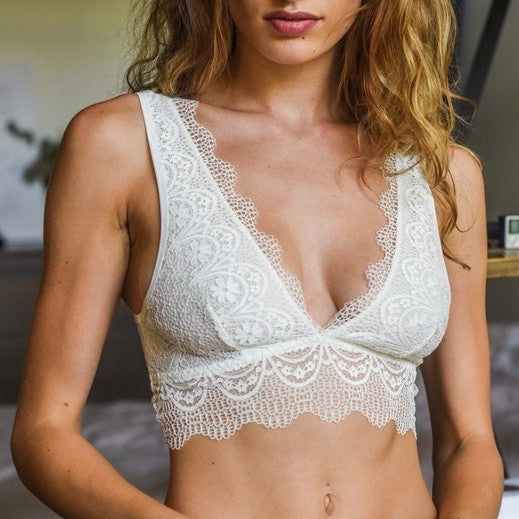 7a8d89a804 dainty white lace bralette - Shop trendy womenswear styles on  www.downerss.com