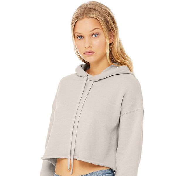 heather dust crop hoodie