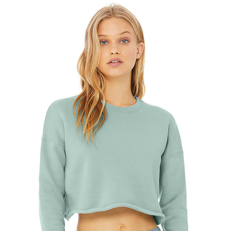 dusty blue cropped pullover - Shop trendy womenswear styles on www.downerss.com