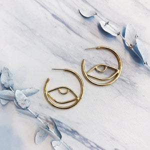 gold cleop hoops