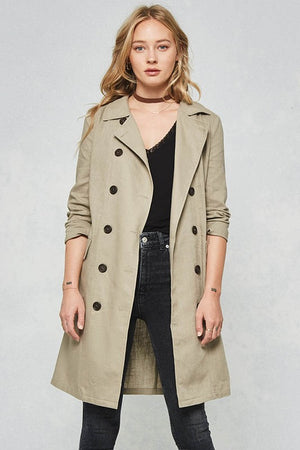 button down trench - Shop trendy womenswear styles on www.downerss.com